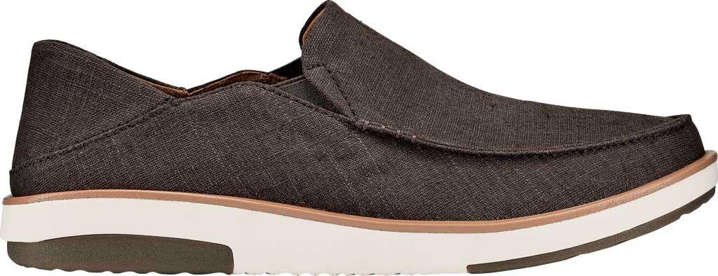 Men's OluKai Kalia Kapa Slip On Sneaker, Dark Wood/Dark Wood Linen, large, image 2