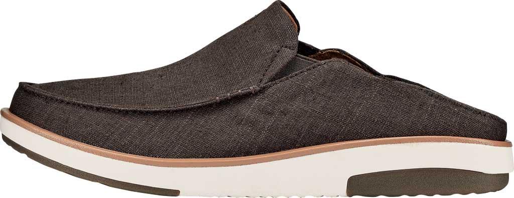 Men's OluKai Kalia Kapa Slip On Sneaker, Dark Wood/Dark Wood Linen, large, image 3