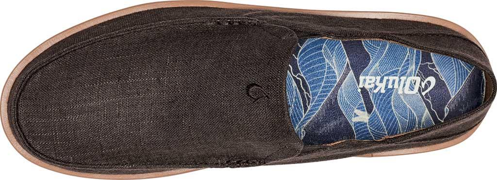 Men's OluKai Kalia Kapa Slip On Sneaker, Dark Wood/Dark Wood Linen, large, image 4
