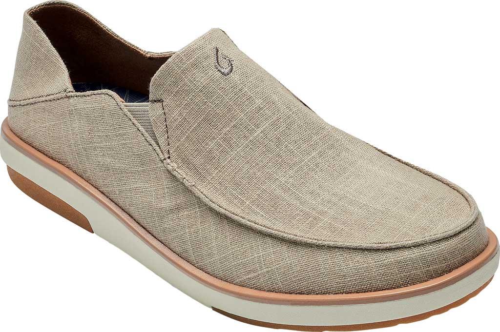 Men's OluKai Kalia Kapa Slip On Sneaker, Silt/Silt Linen, large, image 1