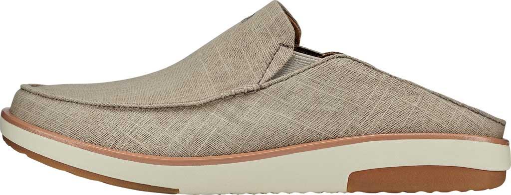 Men's OluKai Kalia Kapa Slip On Sneaker, Silt/Silt Linen, large, image 3