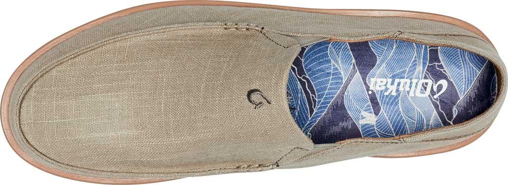 Men's OluKai Kalia Kapa Slip On Sneaker, Silt/Silt Linen, large, image 4