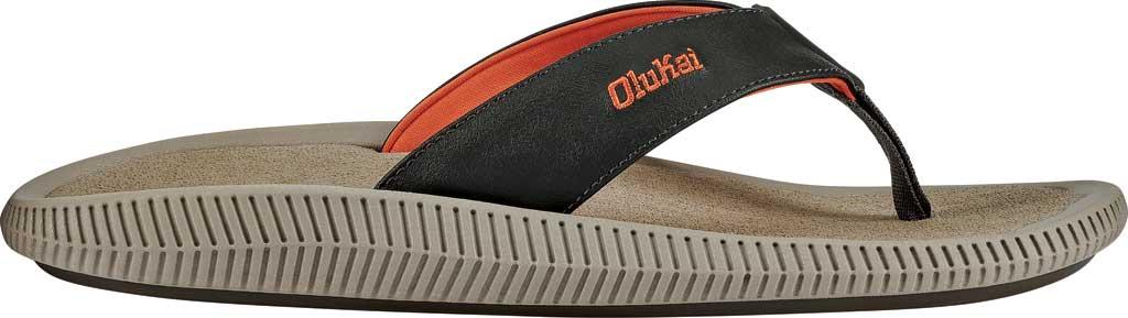 Men's OluKai Ulele Kai Flip Flop, Island Salt/Clay Silicone, large, image 2