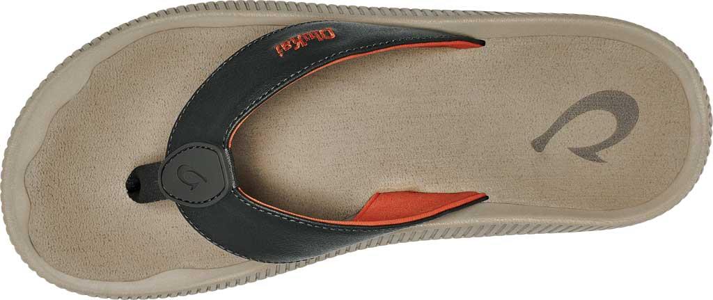 Men's OluKai Ulele Kai Flip Flop, Island Salt/Clay Silicone, large, image 3