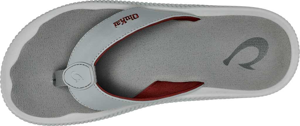 Men's OluKai Ulele Kai Flip Flop, Pale Grey/Sharkskin Silicone, large, image 3