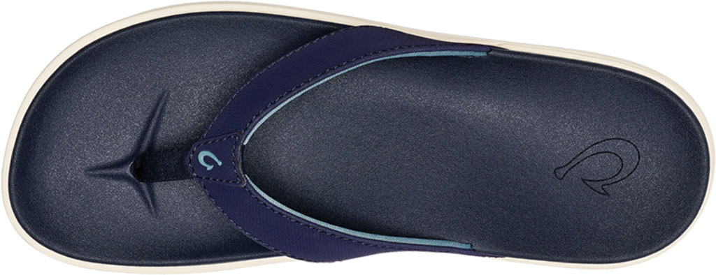Women's OluKai Nu'A Pi'O Flip Flop, Trench Blue/Trench Blue Synthetic, large, image 3