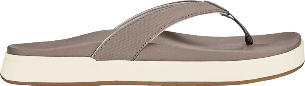 Women's OluKai Nu'A Pi'O Flip Flop, Warm Taupe/Warm Taupe Synthetic, large, image 2