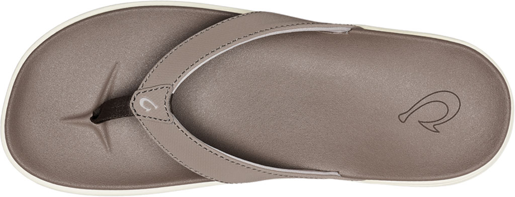 Women's OluKai Nu'A Pi'O Flip Flop, Warm Taupe/Warm Taupe Synthetic, large, image 3