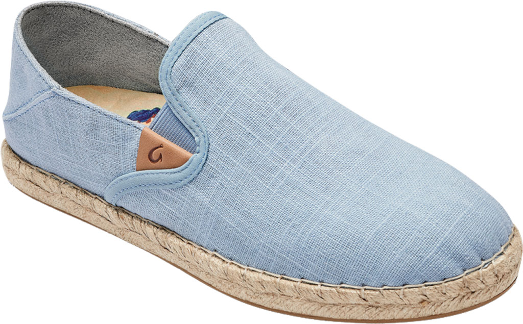 Women's OluKai Kaula Pa'A Kapa Slip On Sneaker, Lanai Breeze/Lanai Breeze Linen Canvas, large, image 1