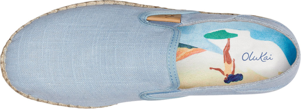 Women's OluKai Kaula Pa'A Kapa Slip On Sneaker, Lanai Breeze/Lanai Breeze Linen Canvas, large, image 3