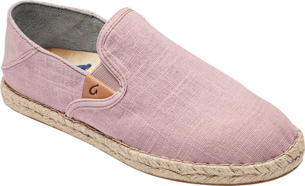 Women's OluKai Kaula Pa'A Kapa Slip On Sneaker, Rose Sea Salt/Rose Sea Salt Linen Canvas, large, image 1