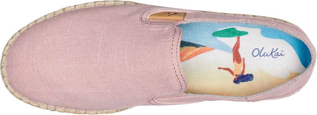 Women's OluKai Kaula Pa'A Kapa Slip On Sneaker, Rose Sea Salt/Rose Sea Salt Linen Canvas, large, image 3
