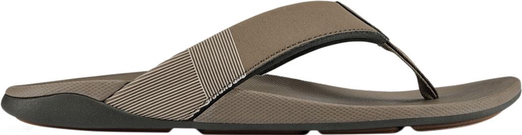 Men's OluKai Malanai Flip Flop, Banyan/Banyan Synthetic Nubuck, large, image 2