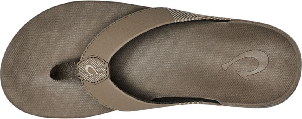 Men's OluKai Malanai Flip Flop, Banyan/Banyan Synthetic Nubuck, large, image 3