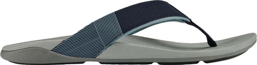 Men's OluKai Malanai Flip Flop, Ombre Blue/Sharkskin Synthetic Nubuck, large, image 2