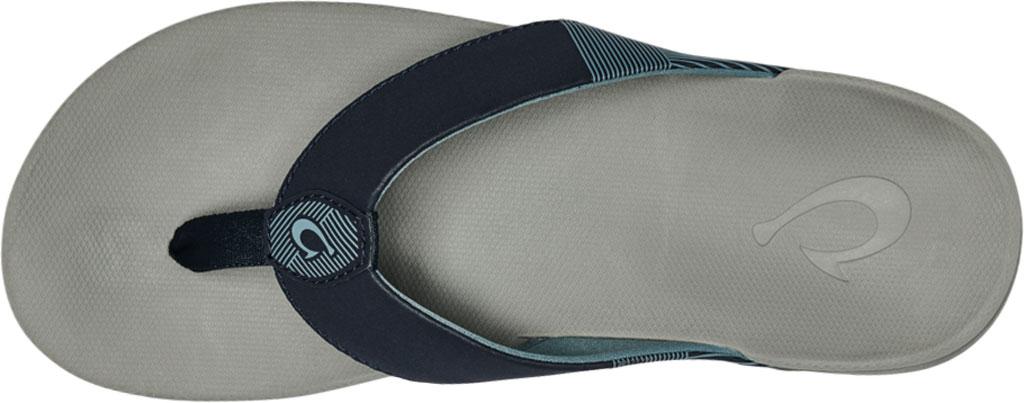 Men's OluKai Malanai Flip Flop, Ombre Blue/Sharkskin Synthetic Nubuck, large, image 3