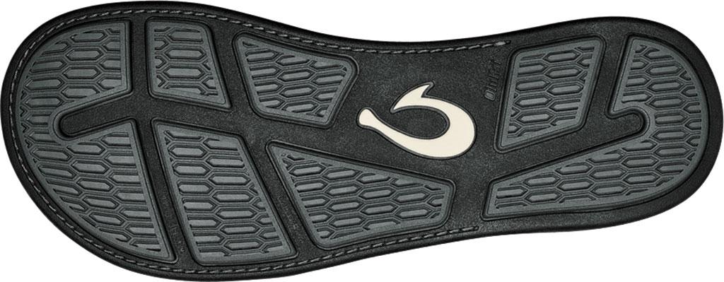 Men's OluKai Tuahine Flip Flop, Black/Black Waterproof Full Grain Leather, large, image 4