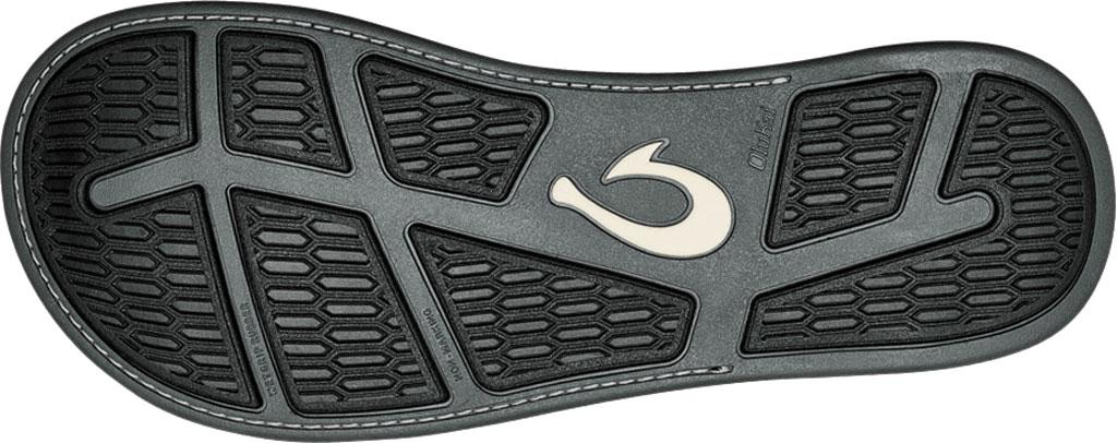 Men's OluKai Tuahine Flip Flop, Stone/Stone Waterproof Full Grain Leather, large, image 4