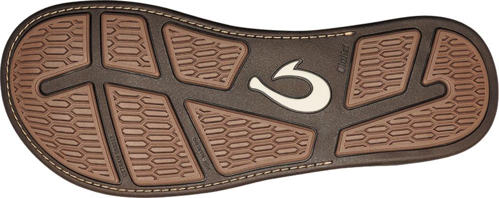 Men's OluKai Tuahine Flip Flop, Toffee/Toffee Waterproof Full Grain Leather, large, image 4