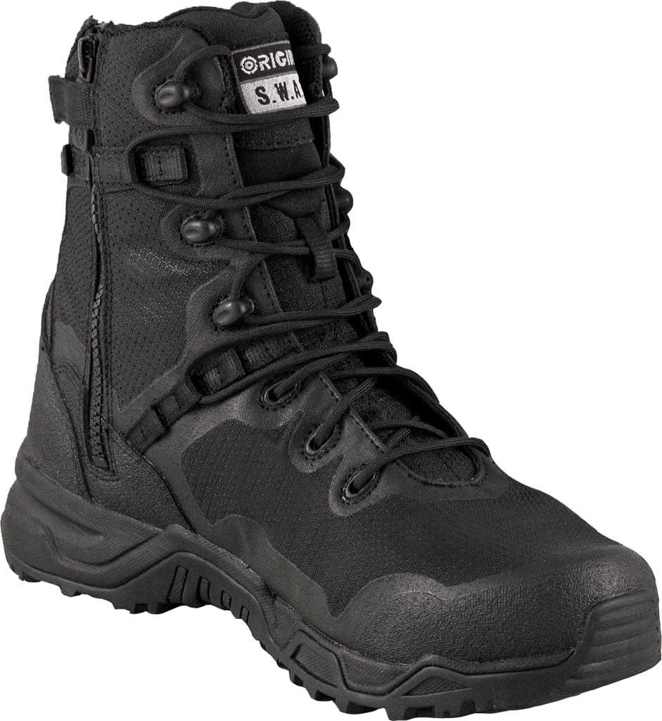 """Men's Original S.W.A.T. Alpha Fury 8"""" Size Zip Boot, Black, large, image 1"""