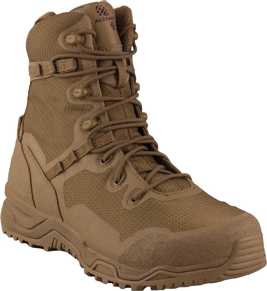"Men's Altama Footwear Raptor 8"" Steel Toe Work Boot, Coyote Microfiber/Polyurethane, large, image 1"