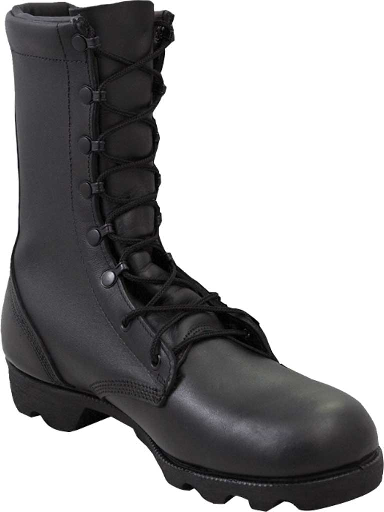 "Men's Altama Footwear Leather 10"" Combat Work Boot, Black Full Grain Leather, large, image 1"