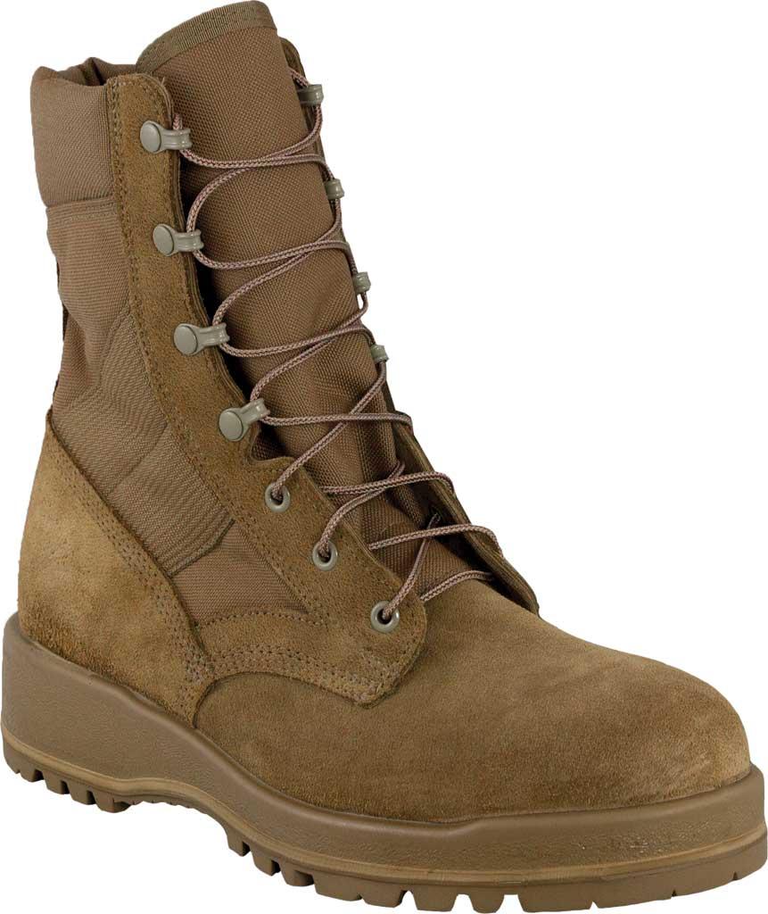 Men's Altama Footwear Wrath HW Steel Toe Military Boot, Coyote Fleshout Cowhide Leather/Cordura, large, image 1