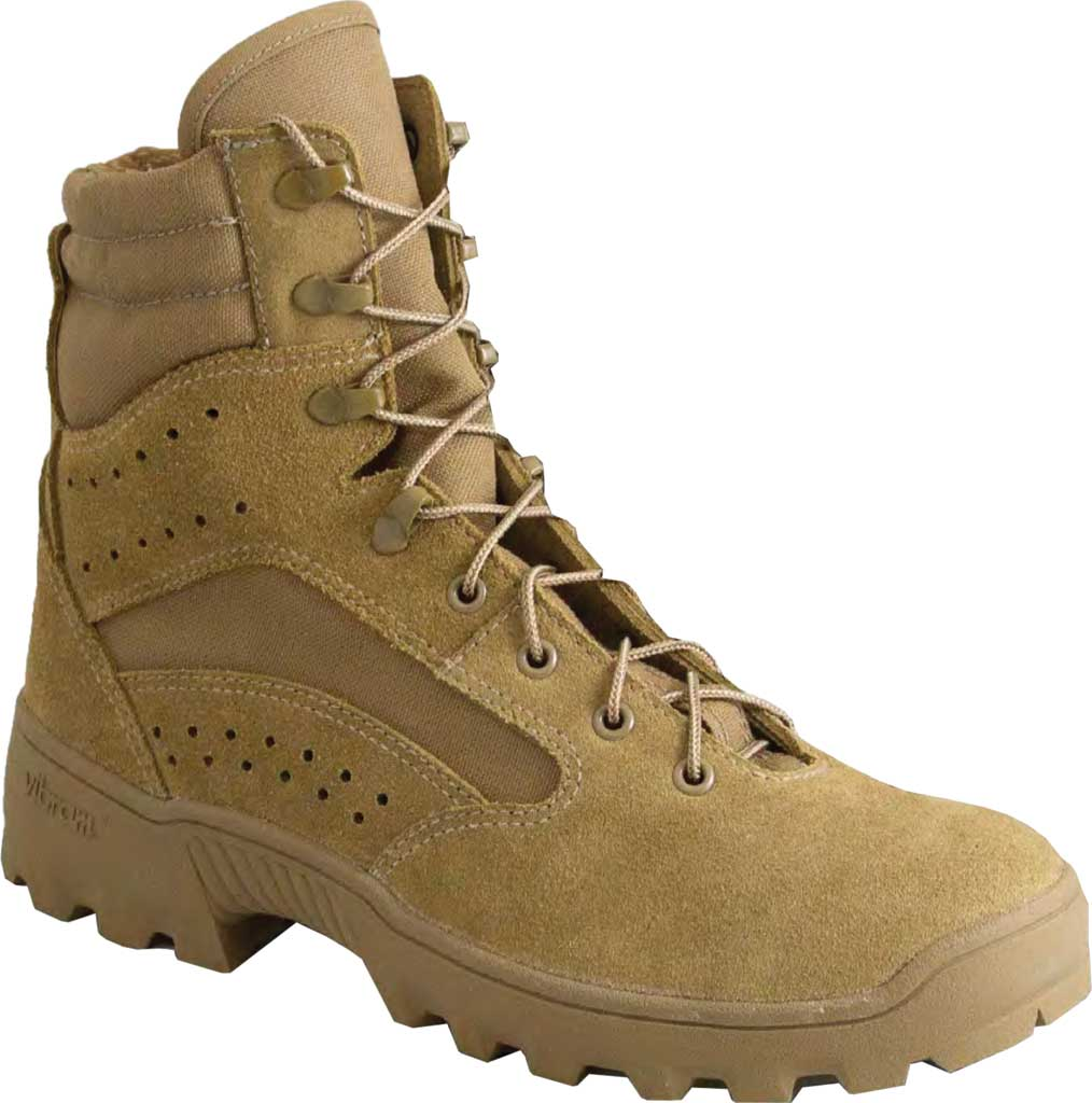 "Men's Altama Footwear Heat 8"" HW Soft Toe Military Boot, Coyote Fleshout Cowhide Leather/Cordura, large, image 1"