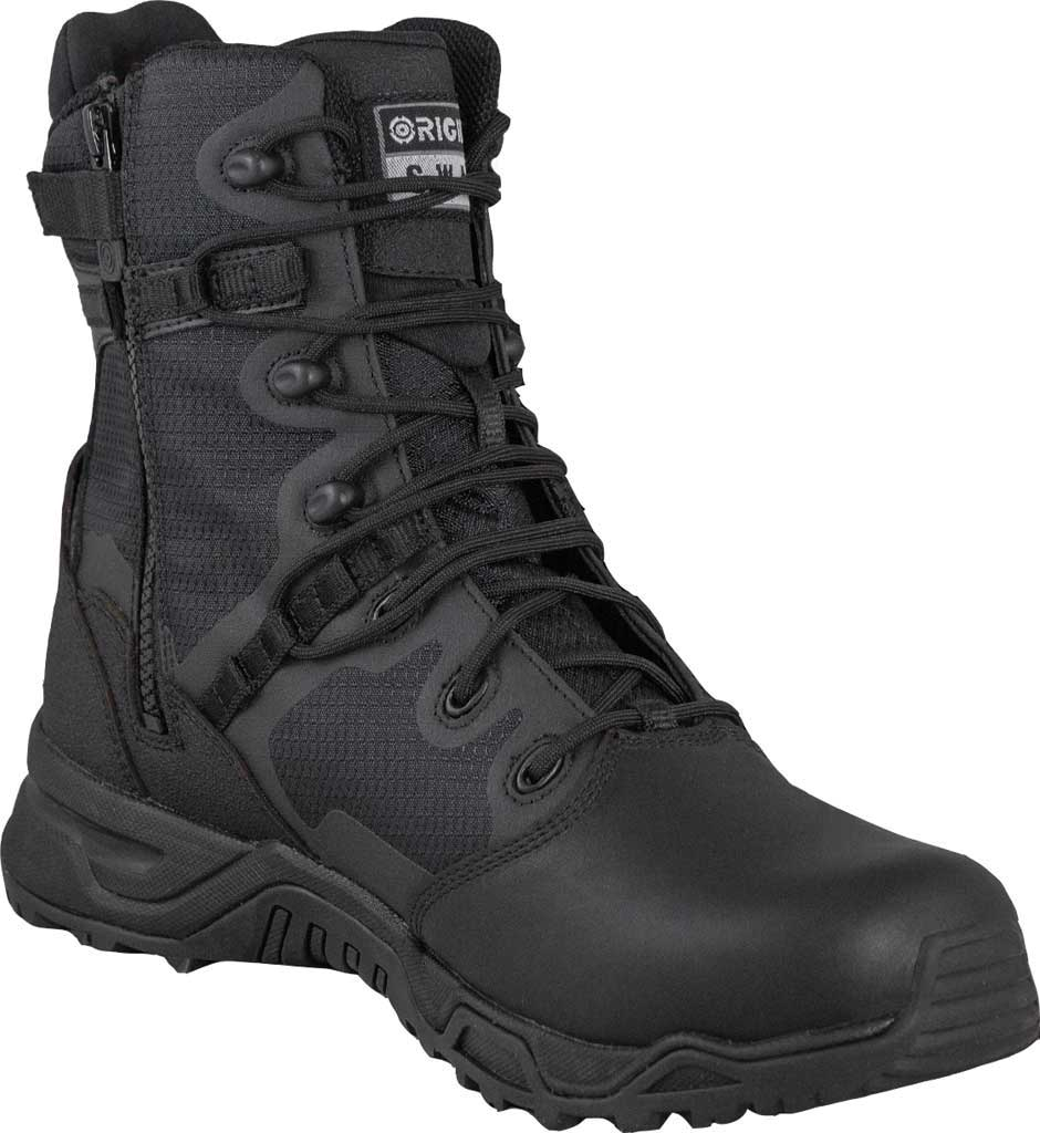 "Men's Original S.W.A.T. Alpha Fury 8"" Side-Zip Tactical Boot, Black Air Mesh, large, image 1"