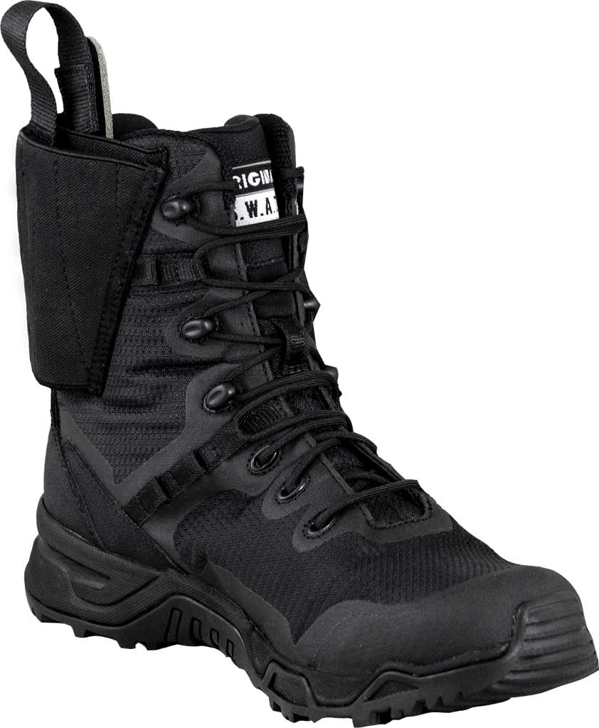"""Men's Original S.W.A.T. Alpha Defender 8"""" Side-Zip Holster Boot, Black Air Mesh, large, image 1"""