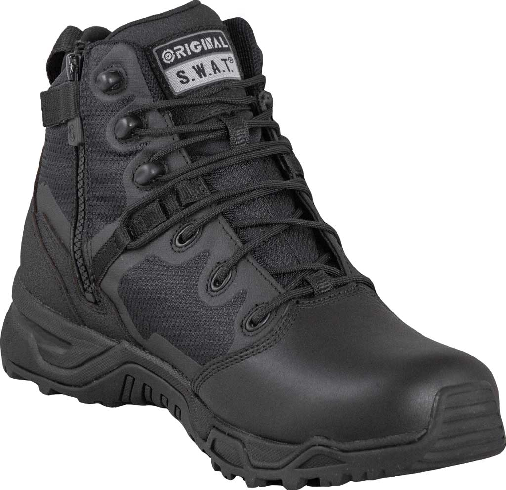 "Men's Original S.W.A.T. Alpha Fury 6"" Side-Zip WP Tactical Boot, Black Air Mesh, large, image 1"