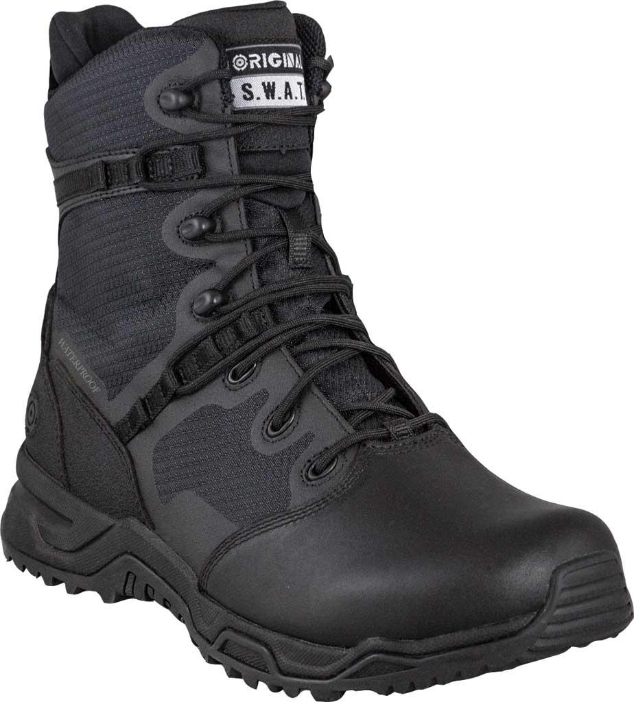 "Men's Original S.W.A.T. Alpha Fury 8"" Side-Zip WP Tactical Boot, Black Air Mesh, large, image 1"