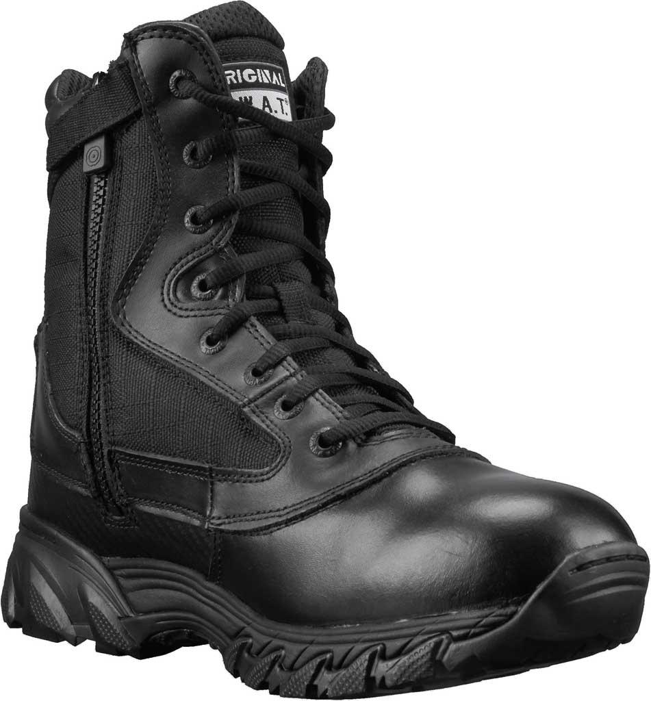 "Men's Original S.W.A.T. Chase 9"" Side-Zip Work Boot, Black Full Grain Leather/Cordura 1200 Denier Nylon, large, image 1"