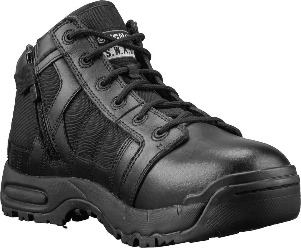 "Men's Original S.W.A.T. Metro Air 5"" Side-Zip Work Boot, Black Leather/Cordura 1000 Denier Nylon, large, image 1"