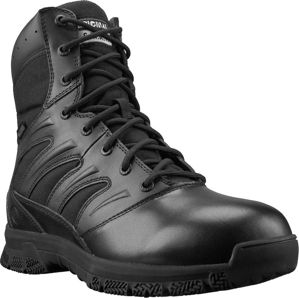 "Men's Original S.W.A.T. Force 8"" Waterproof Boot, Black Full Grain Leather/Cordura 1000 Denier Nylon, large, image 1"