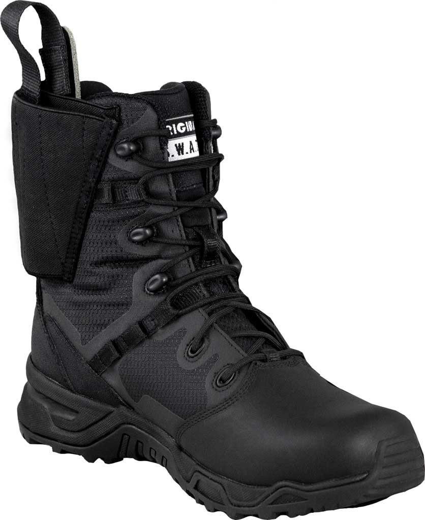 "Men's Original S.W.A.T. Alpha Defender 8"" PT Work Boot, Black Mesh/Synthetic Microfiber Leather, large, image 1"