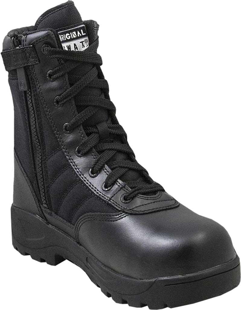 "Men's Original S.W.A.T. Classic 9"" SZ Safety Plus Work Boot, Black Full Grain Leather/Cordura 1000 Denier Nylon, large, image 1"