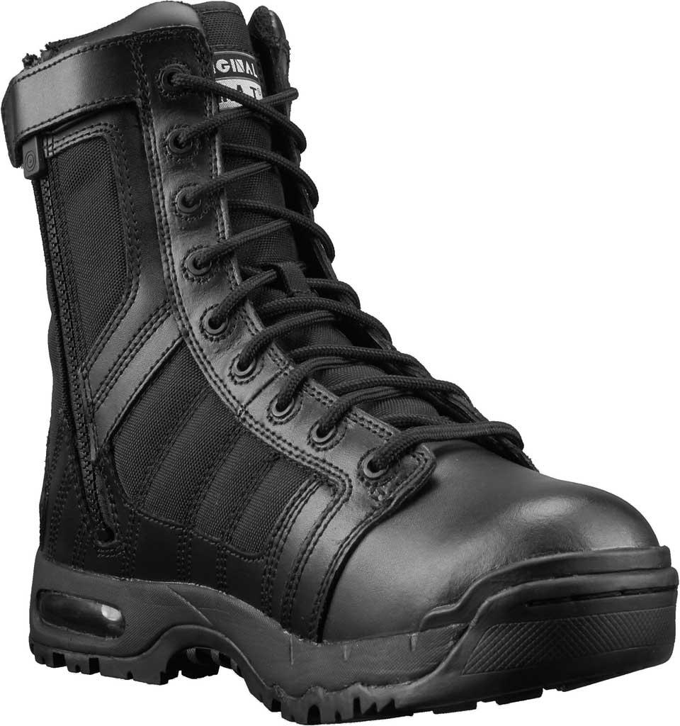"Men's Original S.W.A.T. Metro Air 9"" Side-Zip Work Boot, Black Leather/Cordura 1000 Denier Nylon, large, image 1"