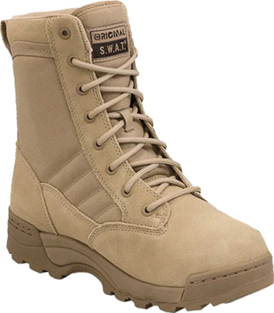 "Men's Original S.W.A.T. Classic 9"" Mid Work Boot, Tan Suede/Cordura 1000 Denier Nylon, large, image 1"