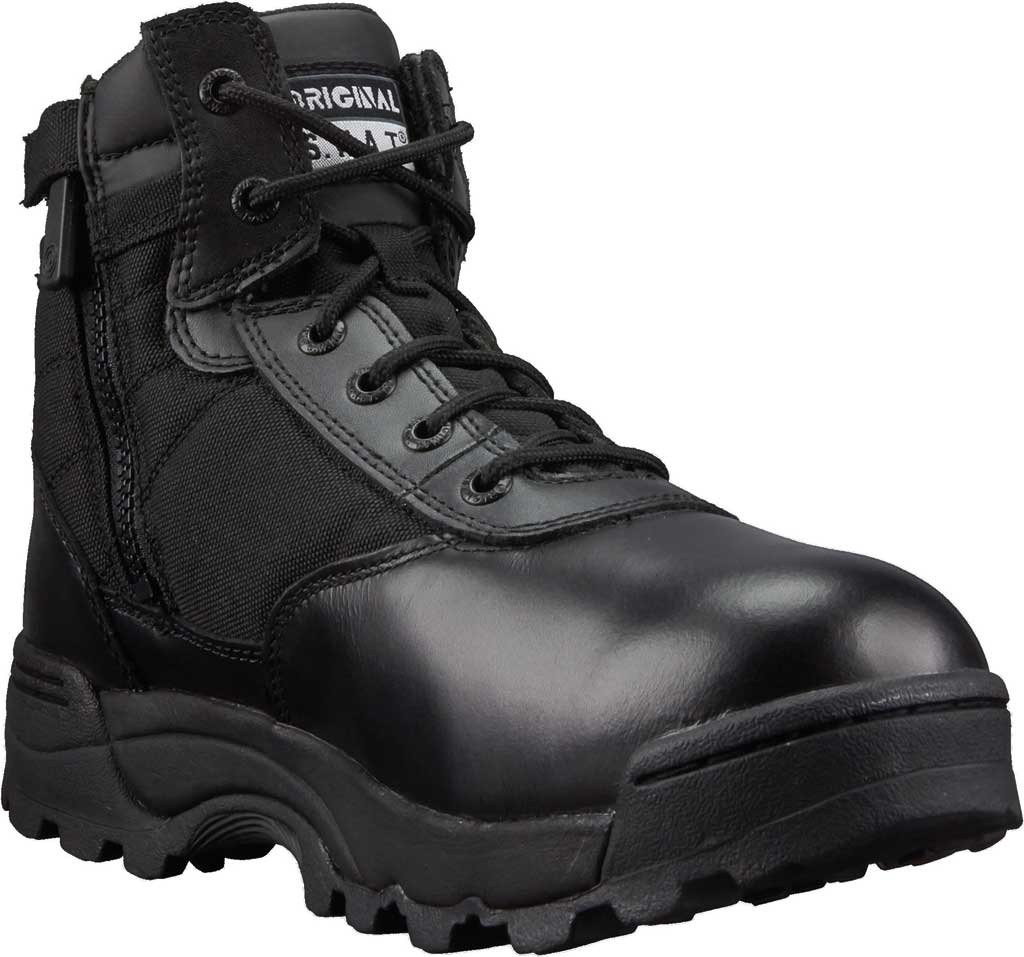 "Men's Original S.W.A.T. Classic 6"" Side-Zip Work Boot, Black Full Grain Leather/Cordura 1000 Denier Nylon, large, image 1"