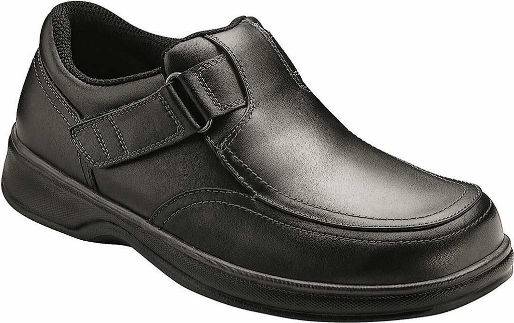 Men's Orthofeet Carnegie, Black Leather, large, image 1