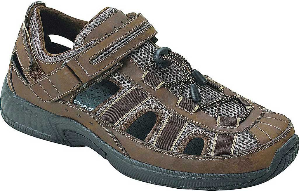 Men's Orthofeet Clearwater, Brown Leather, large, image 1