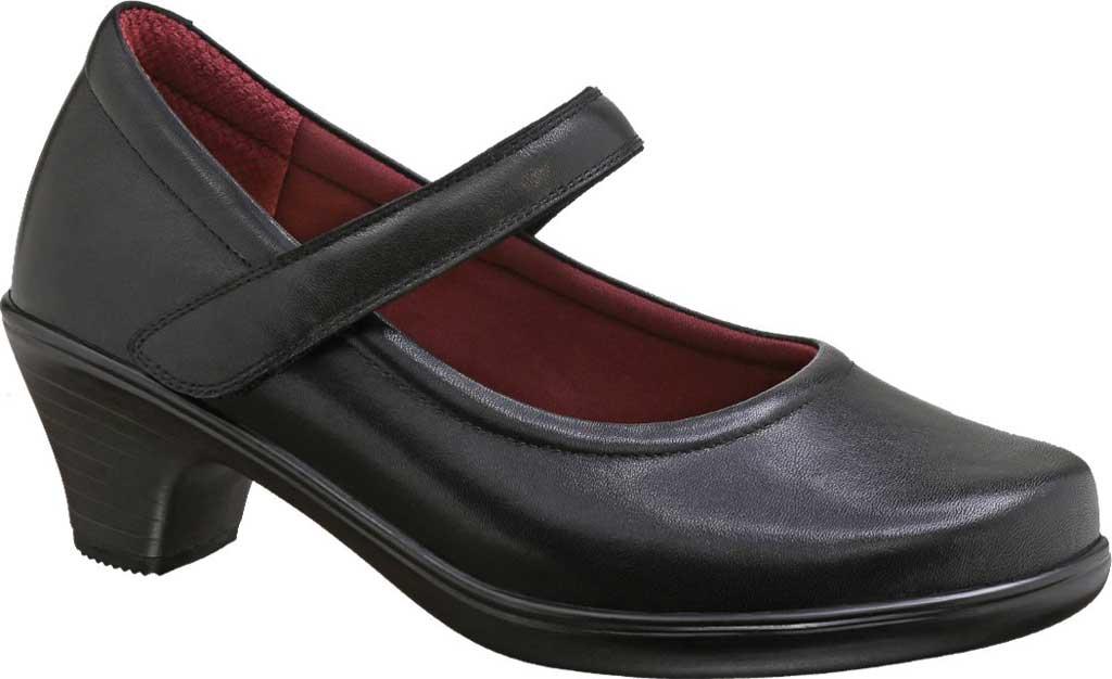 Women's Orthofeet Vera Mary Jane Pump, Black Full Grain Leather, large, image 1