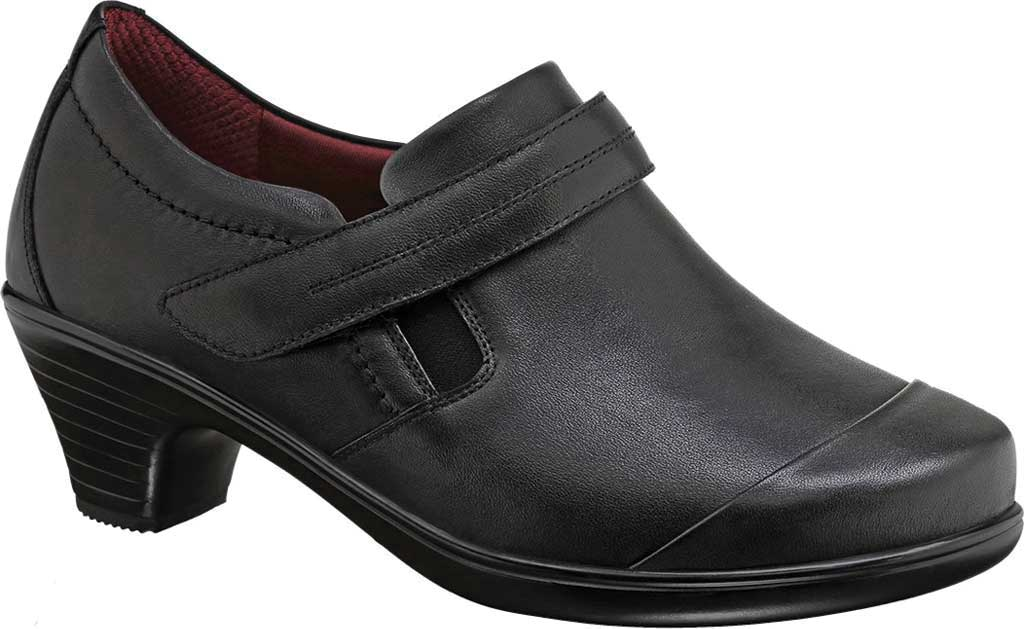 Women's Orthofeet Marina Bootie, Black Full Grain Leather, large, image 1
