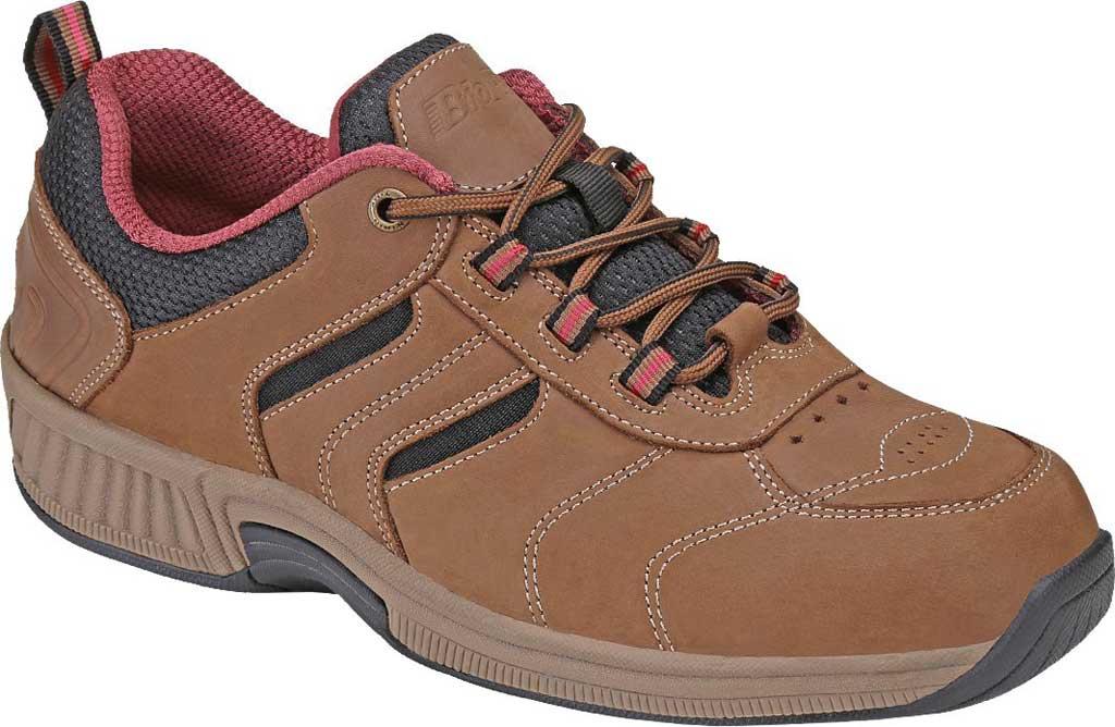 Women's Orthofeet Sonoma Sneaker, Brown Nubuck, large, image 1
