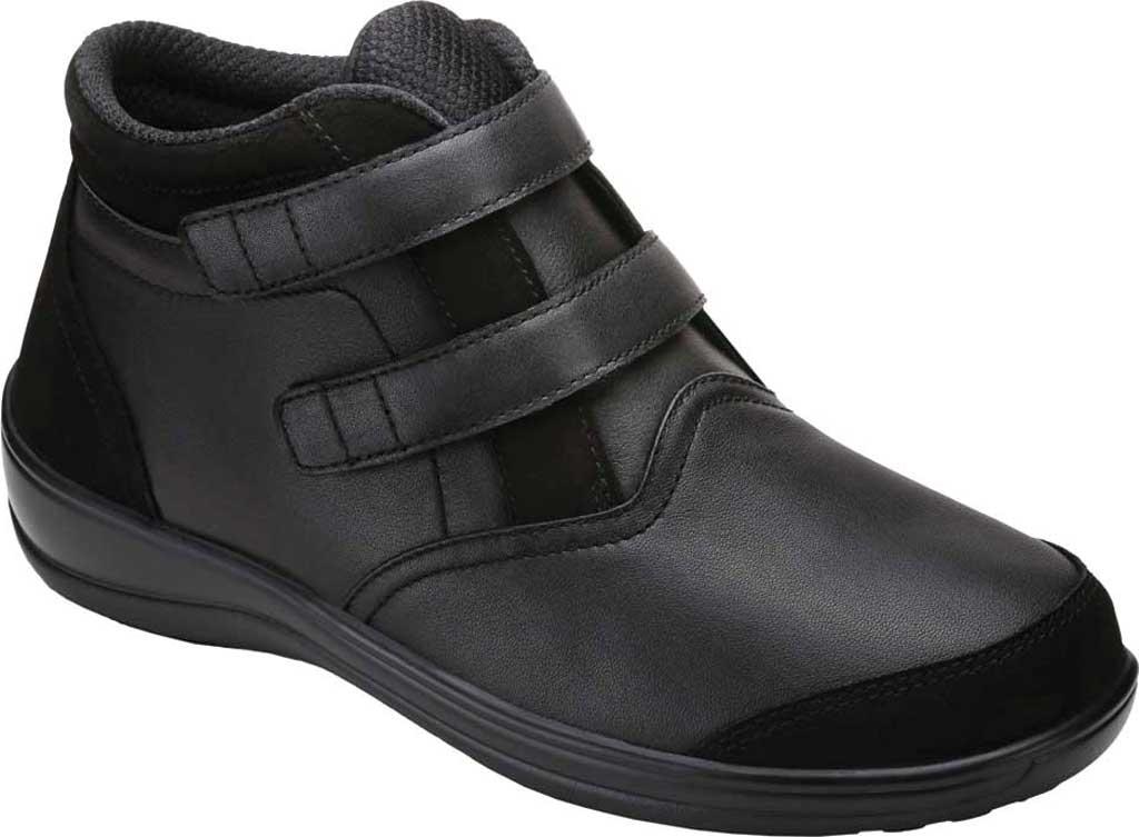 Women's Orthofeet Tivoli Bootie, Black Full Grain Leather, large, image 1