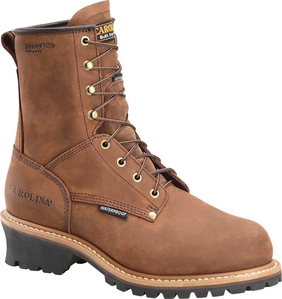 """Men's Carolina 8"""" Plain Toe Logger Steel Toe Boot, , large, image 1"""