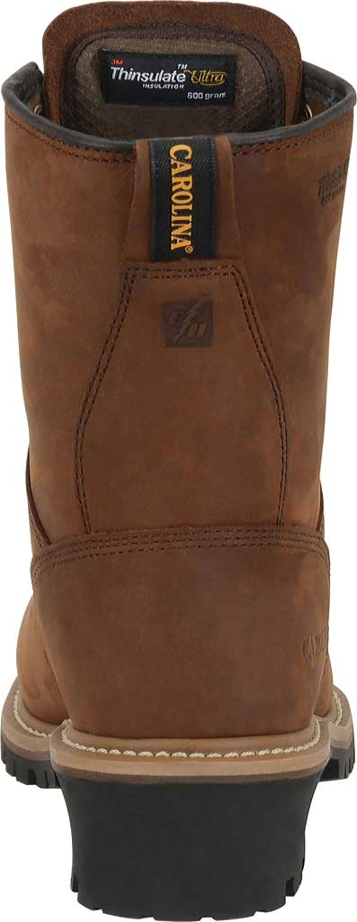 """Men's Carolina 8"""" Plain Toe Logger Steel Toe Boot, , large, image 3"""
