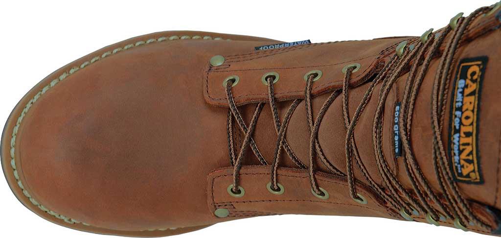 """Men's Carolina 8"""" Plain Toe Logger Steel Toe Boot, , large, image 4"""