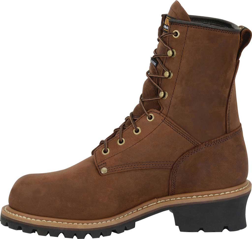 "Men's Carolina 8"" Plain Toe Logger Waterproof Boot, , large, image 2"